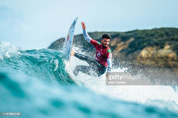 Filipe Toledo of Brazil advances directly to Round 3 of the 2019 Rip Curl Pro Bells Beach after winning Heat 3 of Round 1 at Bells Beach on April 18...