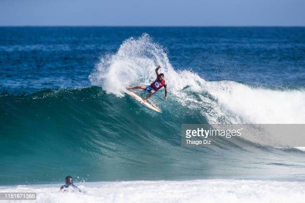 Filipe Toledo of Brazil wins the 2019 Oi Rio Pro for the third time in his career and the second year in a row after winning the final at Barrinha,...