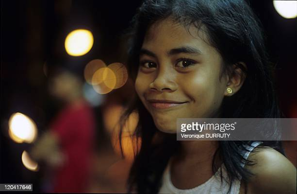 Filipina young girl in Luzon island Philippines