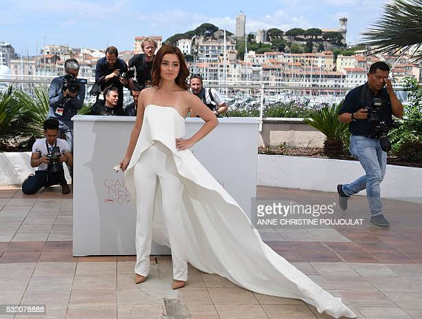 Filipino actress Andi Eigenmann poses on May 18 2016 during a photocall for the film 'Ma'Rosa' at the 69th Cannes Film Festival in Cannes southern...