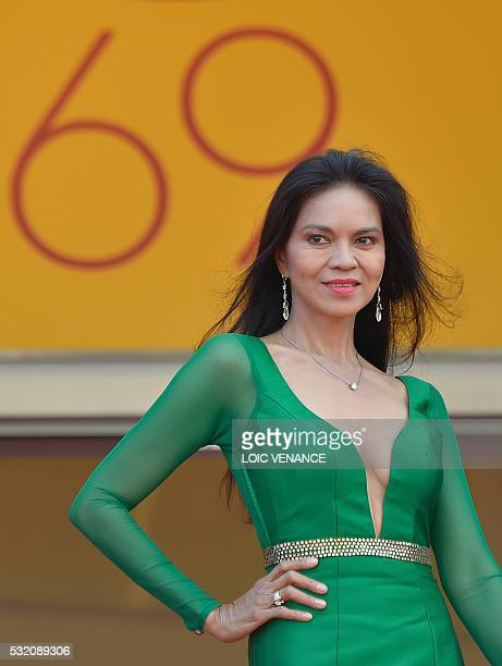 Filipino actress Maria Isabel Lopez poses as she arrives on May 18 2016 for the screening of the film 'Ma'Rosa' at the 69th Cannes Film Festival in...
