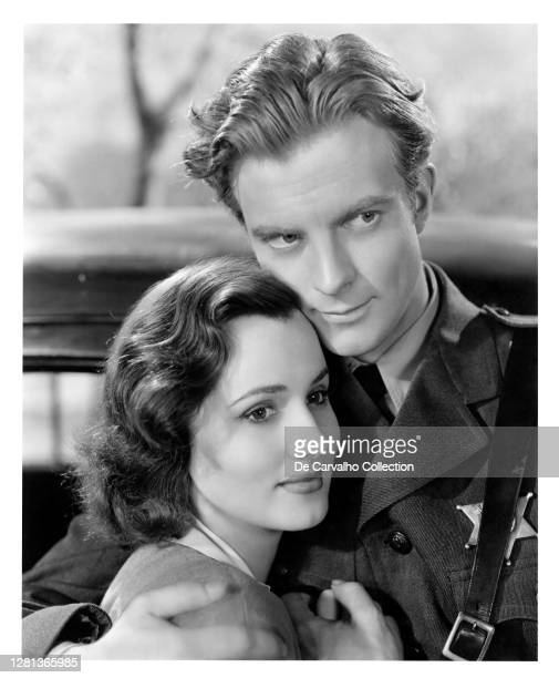 Filipino Born Swedish Actress Brenda Marshall as 'Claire Foster' and Actor William Lundigan as 'Dave Warren' in a scene from the movie 'Highway West'...