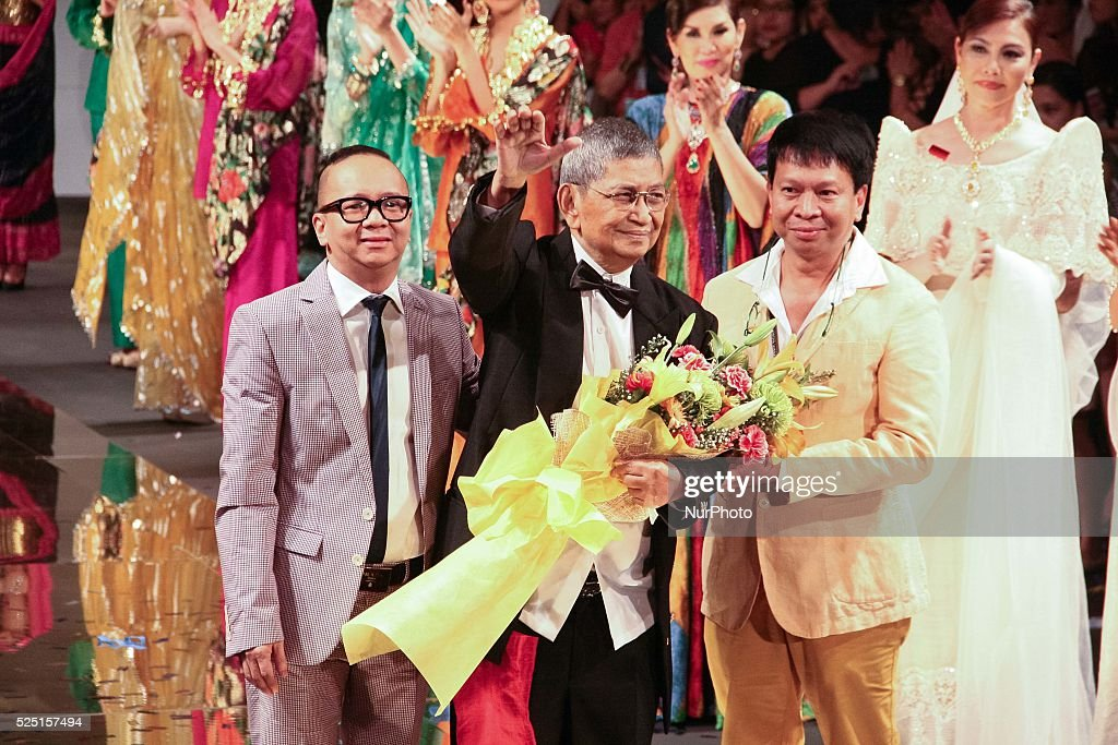 Filipino Fashion Designer Ben Farrales Waves At The Crowd During The News Photo Getty Images