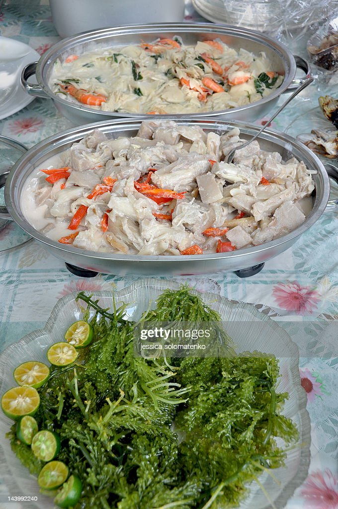 Filipino Food Salad And Side Dishes Stock-Foto - Getty Images