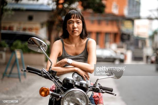 filipino motorcyclist on motorcycle - showus stock pictures, royalty-free photos & images