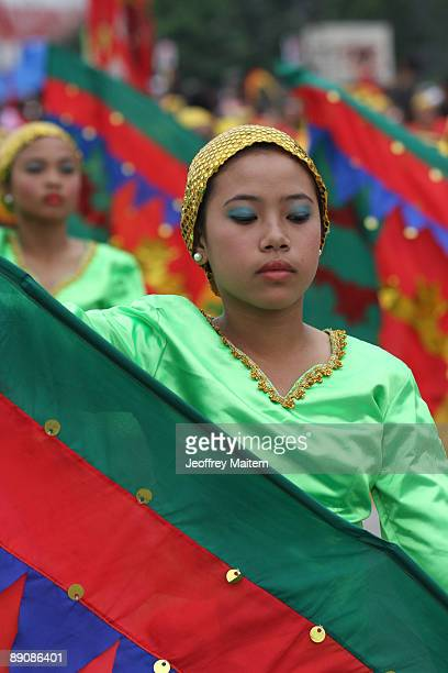 Filipino natives perform at the 2009 T�nalak Festival showcasing South Cotabato Province tribal cultures oon July 18 2009 in the southern city of...