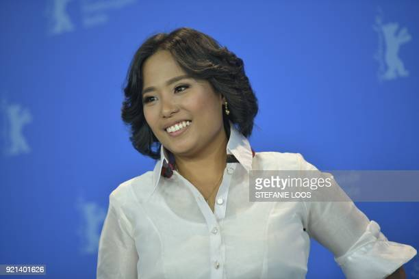 Filipino producer Bianca Balbuena poses during the photo call for the film 'Ang Panahon ng Halimaw The Season Of The Devil' in competition during the...