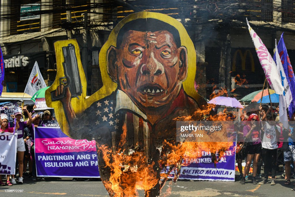 PHILIPPINES-WOMEN'S-DAY-PROTEST : News Photo