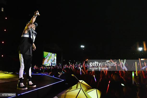 FilipinoAmerican rapper record producer and dancer Apldeap performs onstage at the 1st edition of the MTV Music Evolution 2015 was staged at Quirino...