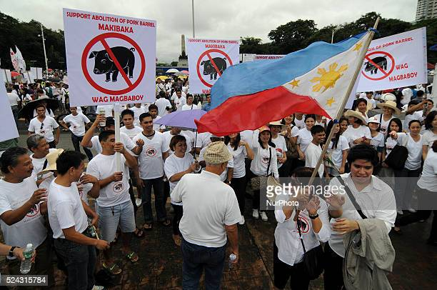 Filipinos occupy Rizal Park during a protest calling for the abolition of the controversial Priority Development Assistance Fund in Manila...