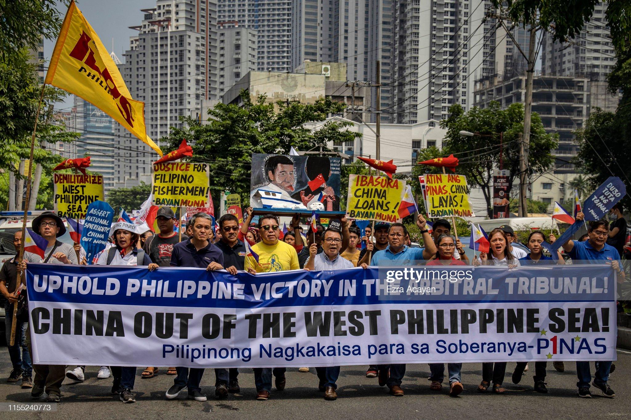 Filipinos Rally Over Tensions At The South China Sea : News Photo