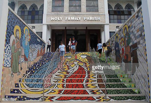 Filipinos visit Catholic churches on Maundy Thursday in Manila Philippines, March 24, 2016. It was a tradition during Holy Thursday to visit seven to...