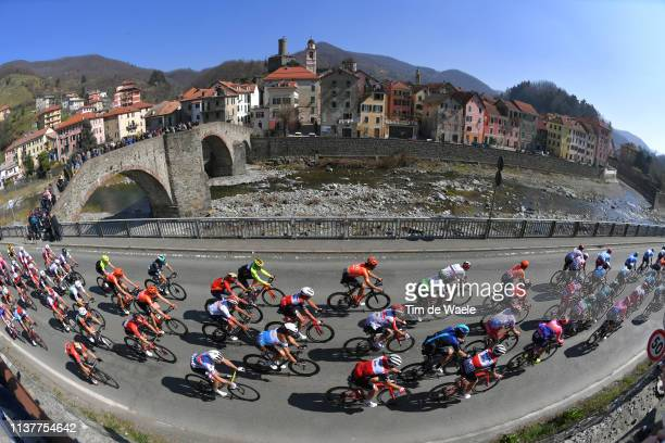 Filipo Ganna of Italy and Team Sky / Elia Viviani of Italy and Team Deceuninck Quick Step / Edward Theuns of Belgium and Team Trek Segafredo / Julius...
