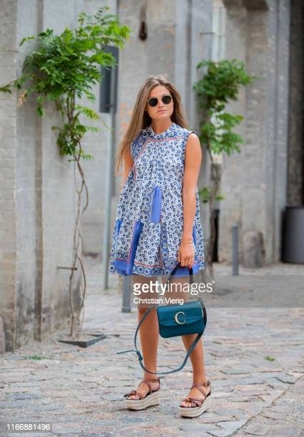Filippa Heagg is seen outside Designers Remix during Copenhagen Fashion Week Spring/Summer 2020 on August 08, 2019 in Copenhagen, Denmark.