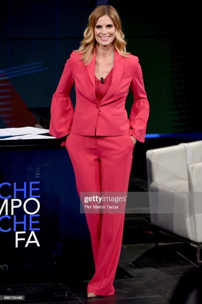 Filippa Lagerback attends 'Che Tempo Che Fa' tv show at Rai Milan Studios on May 7, 2017 in Milan, Italy.