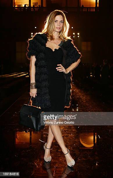 Filippa Lagerback attends Ermanno Scervino fashion show as part of Pitti Immagine Uomo 83 at Palazzo Vecchio on January 9 2013 in Florence Italy
