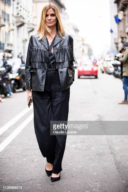 Filippa Lagerback attends the Ermanno Scervino show at Milan Fashion Week Autumn/Winter 2019/20 on February 23 2019 in Milan Italy