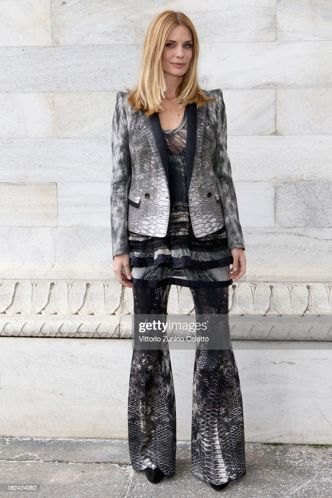 Filippa Lagerback attends the Roberto Cavalli fashion show as part of Milan Fashion Week Womenswear Fall/Winter 2013/14 on February 23, 2013 in Milan, Italy.