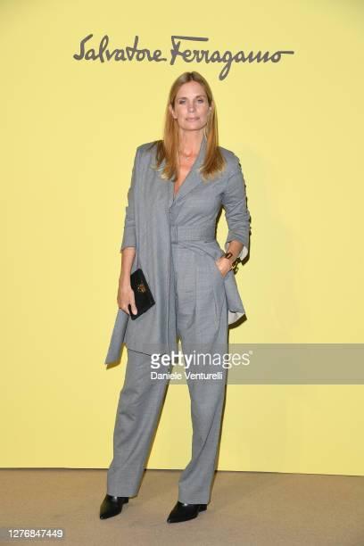 Filippa Lagerbäck attend the Salvatore Ferragamo show during during Milan Fashion Week Spring/Summer 2021 on September 26, 2020 in Milan, Italy.