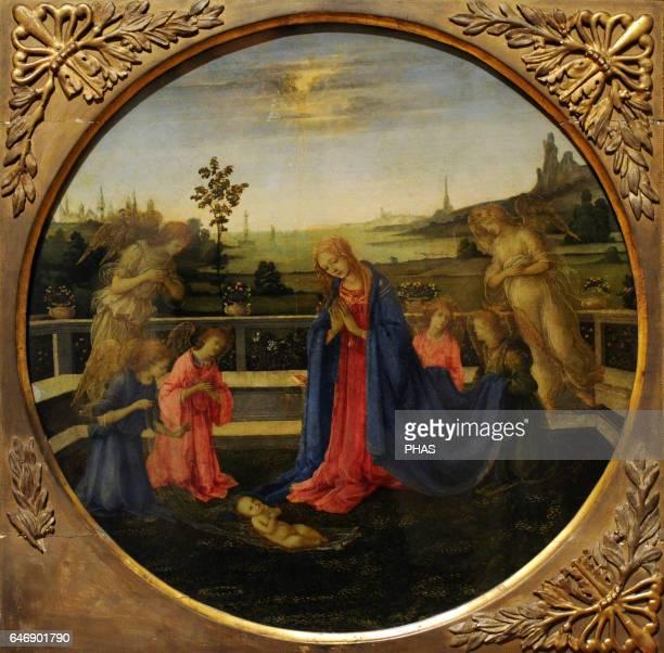 Filippino Lippi Italian painter High Renaissance Florentine school Adoration of the Christ Child c 1480 Tempera on copperplate The State Hermitage...