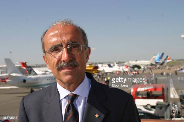 Filippo Bagnato, CEO of Avions de Transport Regio poses after at the 46th International Paris Airshow, le Bourget, France, Monday, June 13, 2005.