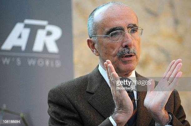 Filippo Bagnato, chief executive officer of Avions de Transport Regional , gestures during a news conference in Paris, France, on Thursday, Jan. 20,...