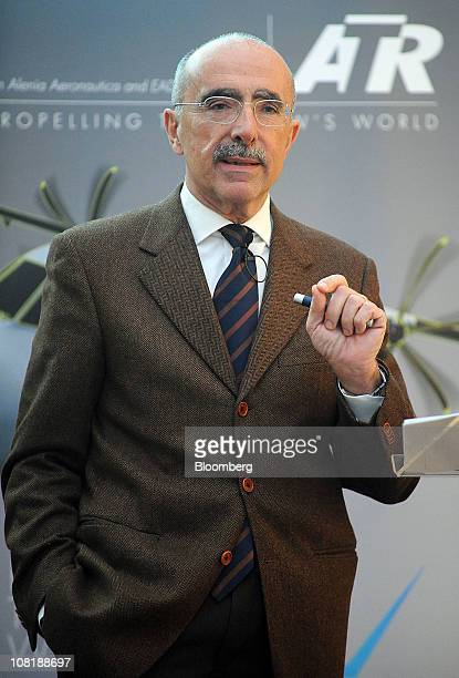 Filippo Bagnato, chief executive officer of Avions de Transport Regional , speaks during a news conference in Paris, France, on Thursday, Jan. 20,...