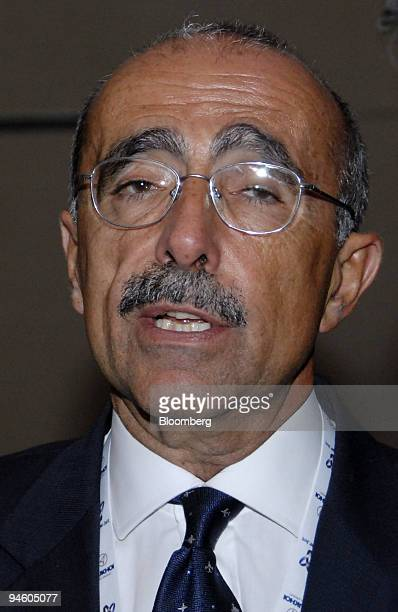 Filippo Bagnato, chief executive officer of Avions de Transport Regio , speaks to reporters during an aviation conference in Mumbai, India on...