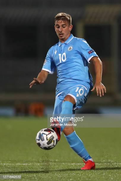 Filippo Berardiof San Marino during the UEFA Nations League group stage match between San Marino and Liechtenstein at San Marino Stadium on...