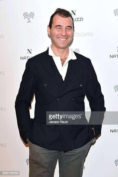 Filippo De Filippi attends Natuzzi Soul Landscapes on April 12, 2016 in Milan, Italy.