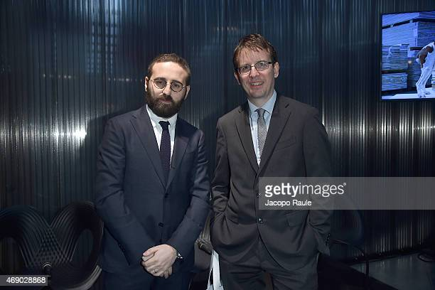 Filippo Del Corno and Vincenzo de Bellis attend 'Miart 2015' Press Preview on April 9, 2015 in Milan, Italy.