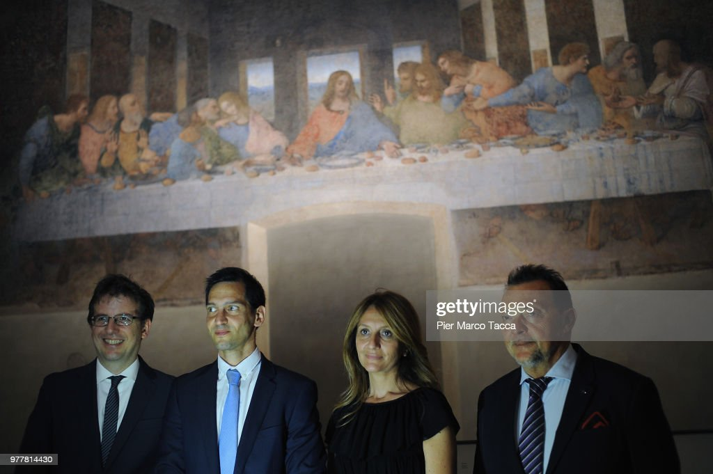 Leonardo Da Vinci Prime Idee Per l'Ultima Cena' Exhibition Press Preview In Milan