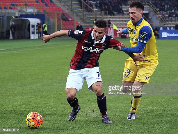Filippo Falco of Bologna FC in action during the Serie A match between Bologna FC and AC Chievo Verona at Stadio Renato Dall'Ara on January 10 2016...