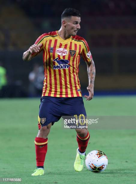 Filippo Falco of Lecce during the Serie A match between US Lecce and Hellas Verona at Stadio Via del Mare on September 1 2019 in Lecce Italy