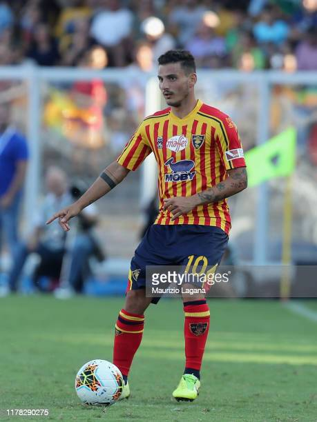 Filippo Falco of Lecce during the Serie A match between US Lecce and AS Roma at Stadio Via del Mare on September 29 2019 in Lecce Italy