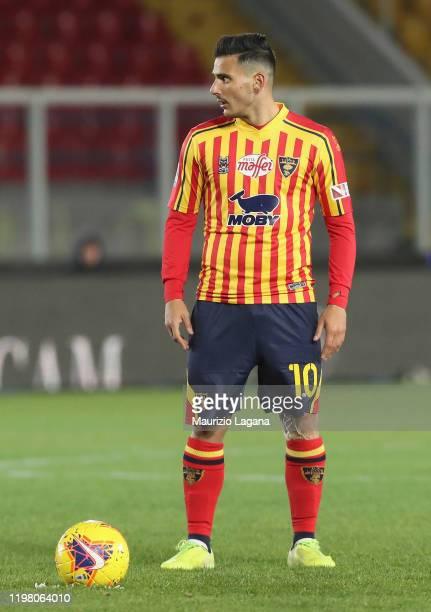 Filippo Falco of Lecce during the Serie A match between US Lecce and Udinese Calcio at Stadio Via del Mare on January 5 2020 in Lecce Italy