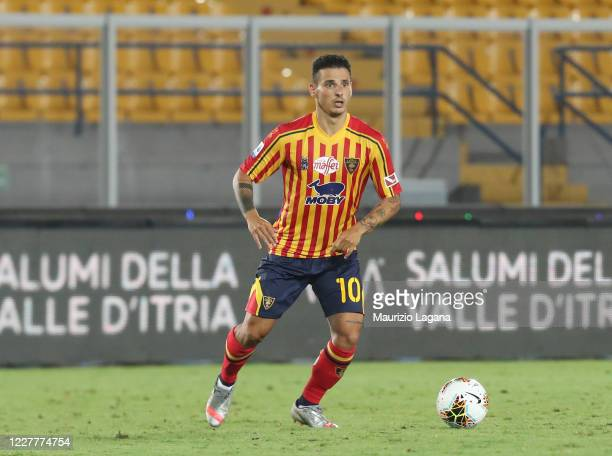 Filippo Falco of Lecce during the Serie A match between US Lecce and Brescia Calcio at Stadio Via del Mare on July 22, 2020 in Lecce, Italy.