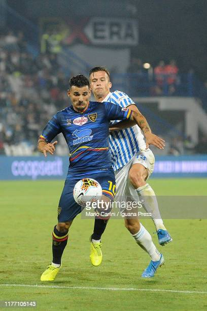 Filippo Falco of US Lecce in action during the Serie A match between SPAL and US Lecce at Stadio Paolo Mazza on September 25 2019 in Ferrara Italy