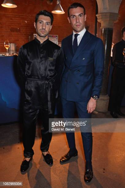 Filippo Fiora and Filippo Cirulli attend the unveiling of Johnnie Walker Blue Label Ghost and Rare Port Ellen at The Welsh Chapel on October 24 2018...