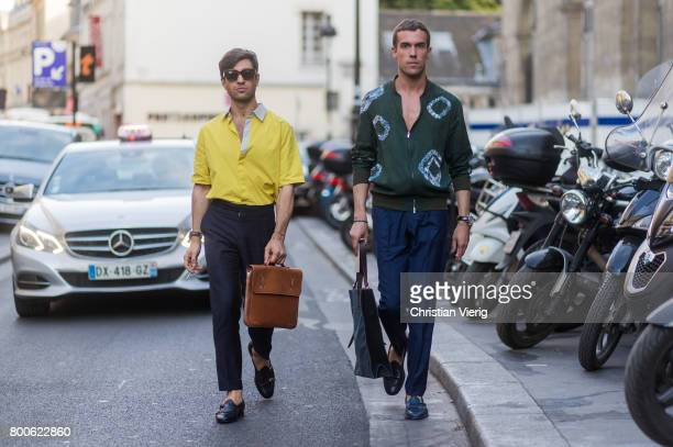 Filippo Fiora and Filippo Cirulli outside Hermes during Paris Fashion Week Menswear Spring/Summer 2018 Day Four on June 24, 2017 in Paris, France.