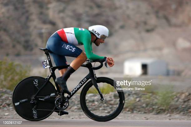 Filippo Ganna of Italy and Italy National Team / during the 38th Vuelta a San Juan International 2020 Stage 3 a 152km Individual Time Trial stage...