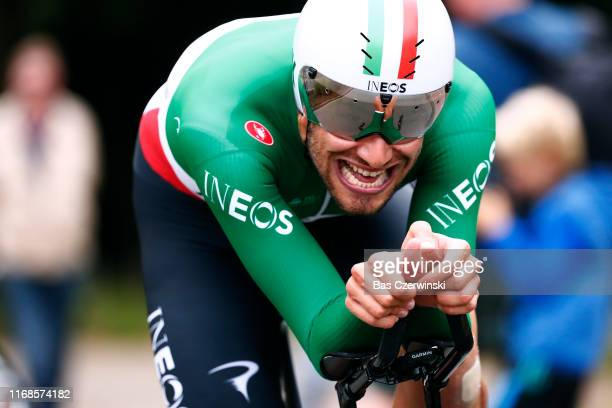 Filippo Ganna of Italy and Team INEOS / during the 15th Binck Bank Tour 2019 Stage 6 a 84km Individual Time Trial from Den Haag to Den Haag / ITT /...