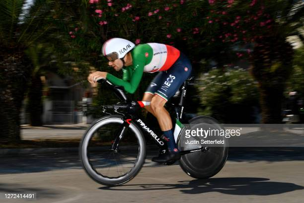 Filippo Ganna of Italy and Team INEOS Grenadiers / during the 55th Tirreno-Adriatico 2020 - Stage 8 a 10,1km Individual Time Trial in San Benedetto...
