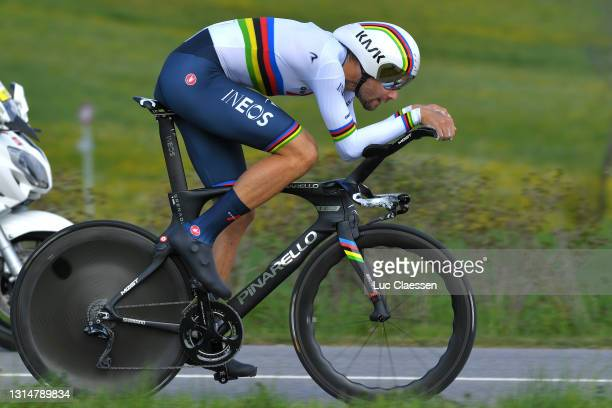 Filippo Ganna of Italy and Team INEOS Grenadiers during the 74th Tour De Romandie 2021, Prologue a 4,05km Individual Time Trial stage from Oron to...