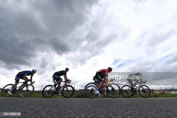 Filippo Ganna of Italy and Team INEOS Grenadiers, Jonas Rickaert of Belgium and Team Alpecin-Fenix, Robert Stannard of Australia and Team...