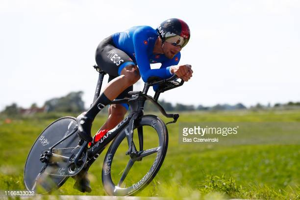 Filippo Ganna of Italy during the 25th UEC Road European Championships 2019 - Elite Men's Time Trial a 22,4km Individual Time Trial race from Alkmaar...