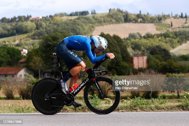 Filippo Ganna of Italy / during the 93rd UCI Road World Championships 2020, Men Elite Individual Time Trial a 31,7km race from Imola to Imola -...