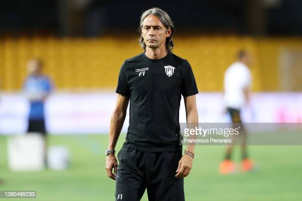 Filippo Inzaghi Benevento Calcio coach before the serie B match between Benevento Calcio and ChievoVerona at Stadio Ciro Vigorito on July 27, 2020 in...