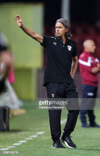 Filippo Inzaghi Benevento Calcio coach during the serie B match between Benevento Calcio and AS Livorno at Stadio Ciro Vigorito on July 17, 2020 in...
