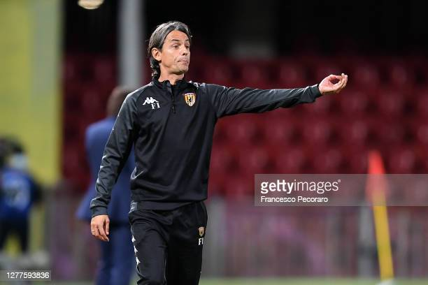 Filippo Inzaghi, Benevento Calcio coach gestures during the Serie A match between Benevento Calcio and FC Internazionale at Stadio Ciro Vigorito on...